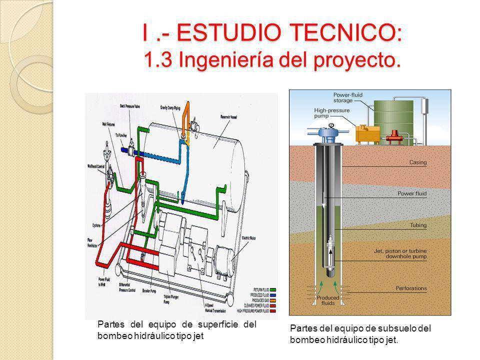 I .- ESTUDIO TECNICO: 1.3 Ingeniería del proyecto.