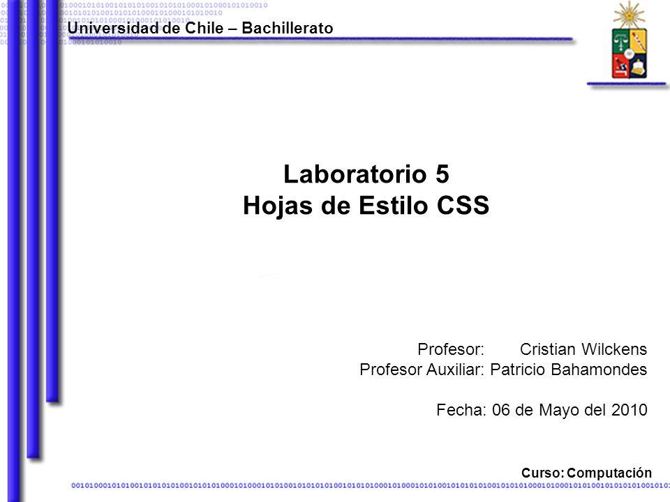 Laboratorio 5 Hojas de Estilo CSS