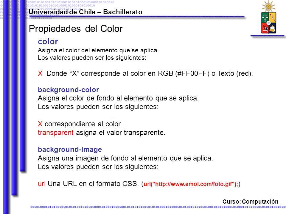 Propiedades del Color color