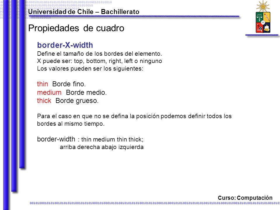 Propiedades de cuadro border-X-width thin Borde fino.