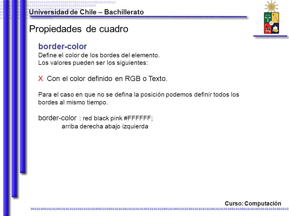 Propiedades de cuadro border-color