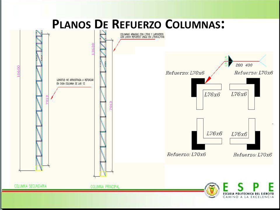 Planos De Refuerzo Columnas: