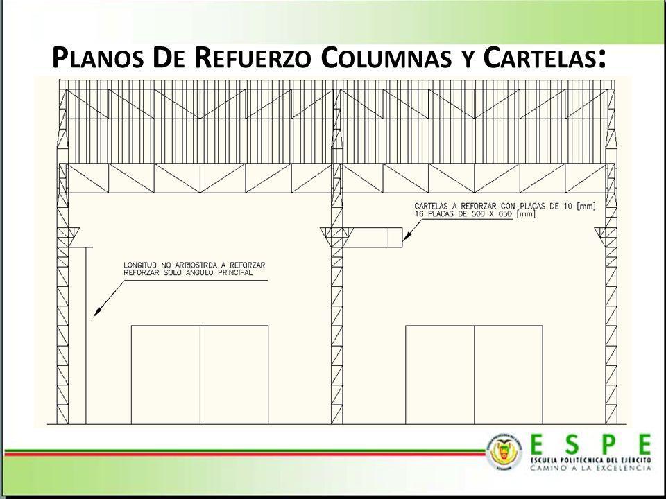 Planos De Refuerzo Columnas y Cartelas: