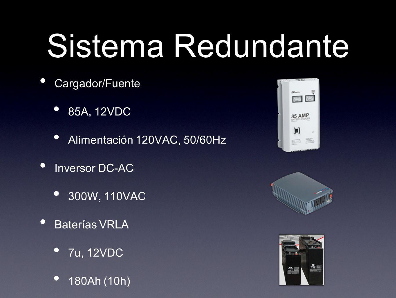 Sistema Redundante Cargador/Fuente 85A, 12VDC