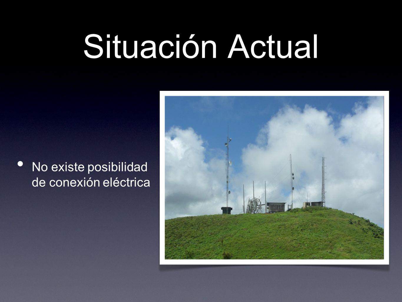 Situación Actual No existe posibilidad de conexión eléctrica