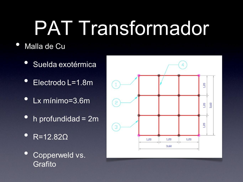 PAT Transformador Malla de Cu Suelda exotérmica Electrodo L=1.8m
