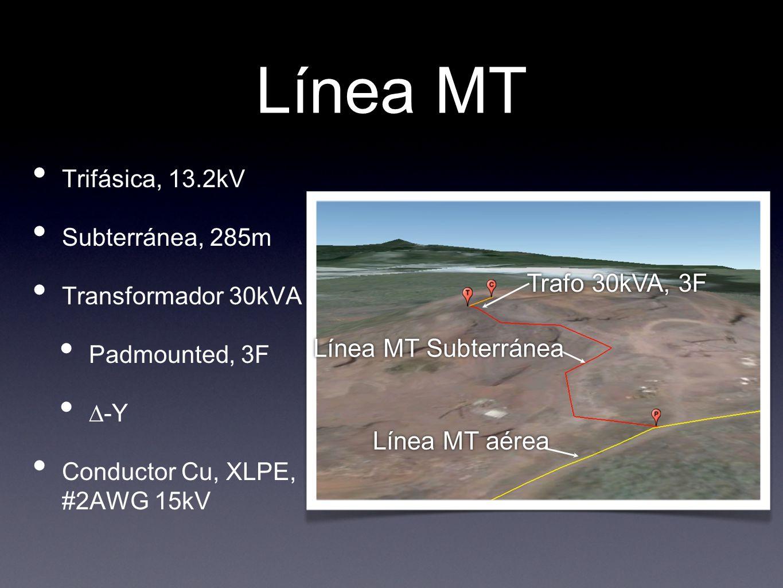 Línea MT Trafo 30kVA, 3F Línea MT Subterránea Línea MT aérea