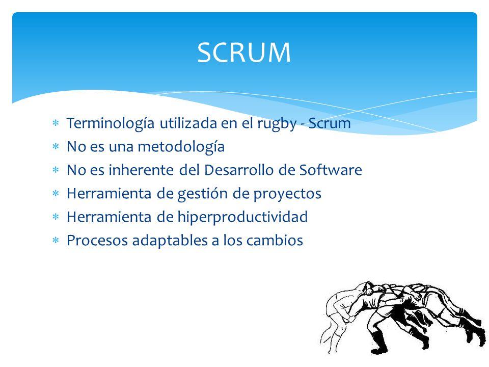 SCRUM Terminología utilizada en el rugby - Scrum No es una metodología