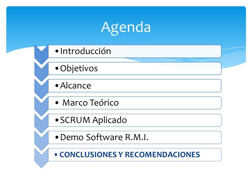 Agenda CONCLUSIONES Y RECOMENDACIONES