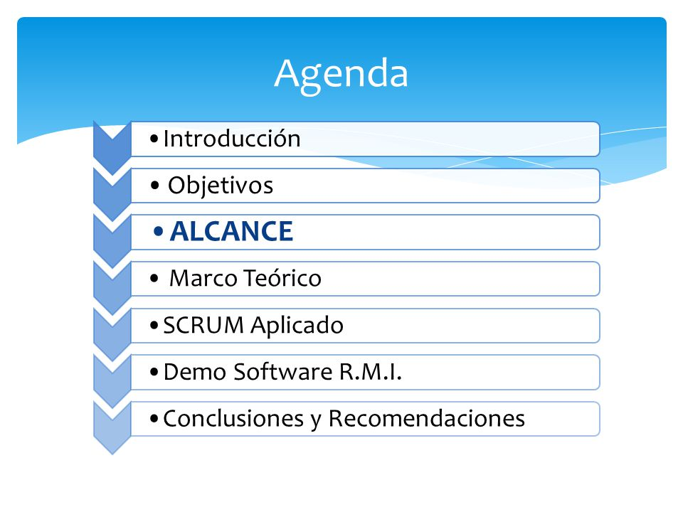 Agenda ALCANCE Objetivos