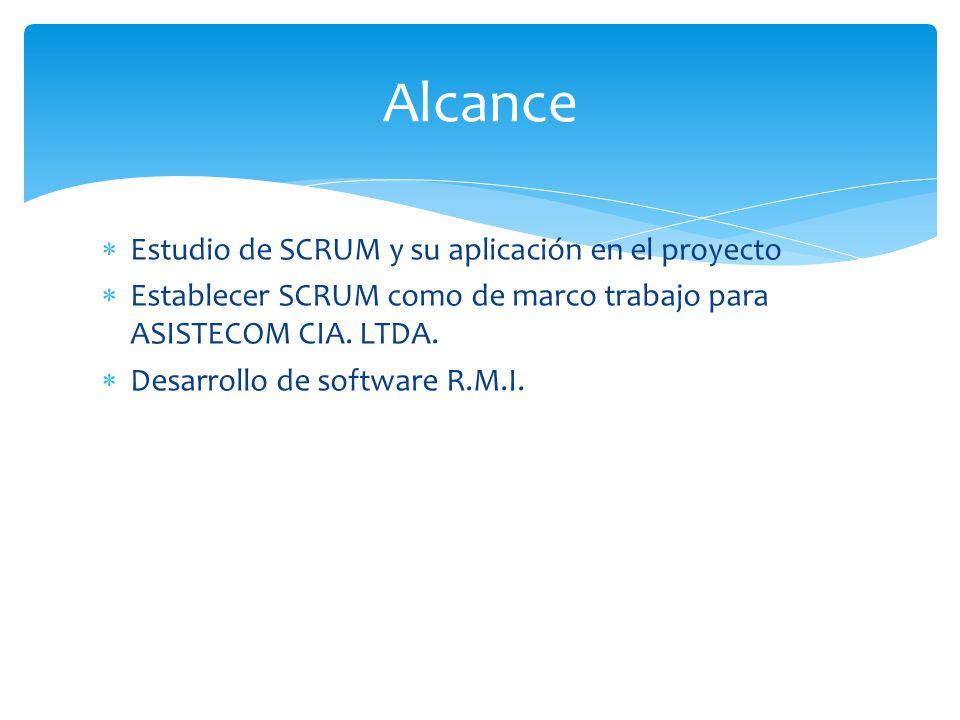 Alcance Estudio de SCRUM y su aplicación en el proyecto
