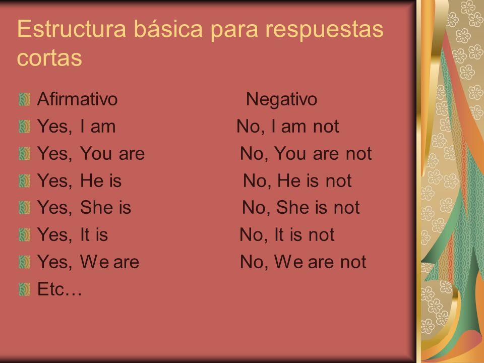 Estructura básica para respuestas cortas