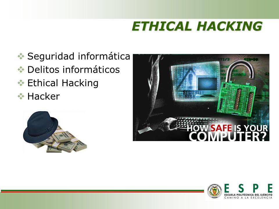 ETHICAL HACKING Seguridad informática Delitos informáticos
