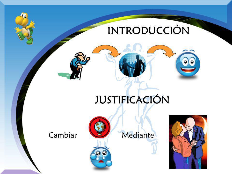 INTRODUCCIÓN JUSTIFICACIÓN Cambiar Mediante