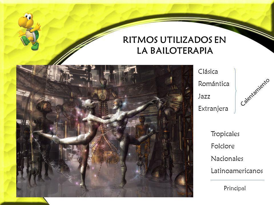 RITMOS UTILIZADOS EN LA BAILOTERAPIA
