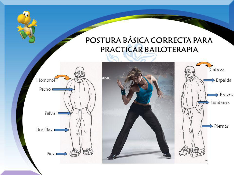 POSTURA BÁSICA CORRECTA PARA PRACTICAR BAILOTERAPIA