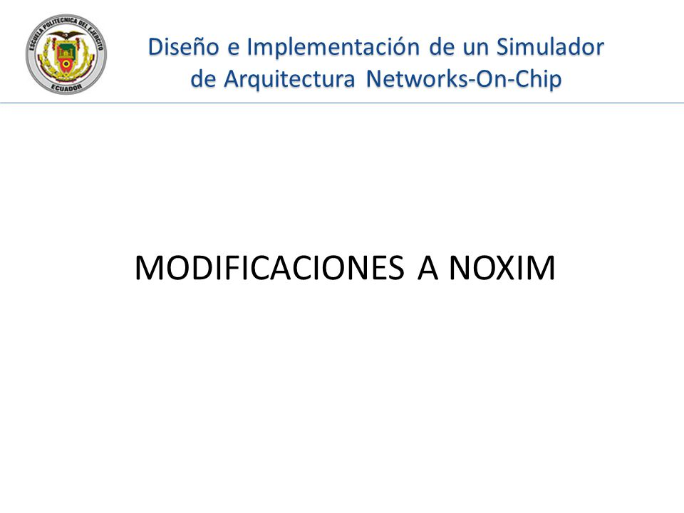 MODIFICACIONES A NOXIM