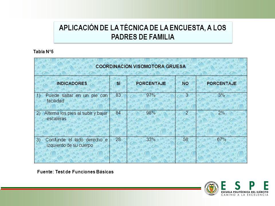 APLICACIÓN DE LA TÉCNICA DE LA ENCUESTA, A LOS PADRES DE FAMILIA