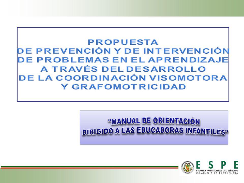 MANUAL DE ORIENTACIÓN DIRIGIDO A LAS EDUCADORAS INFANTILES