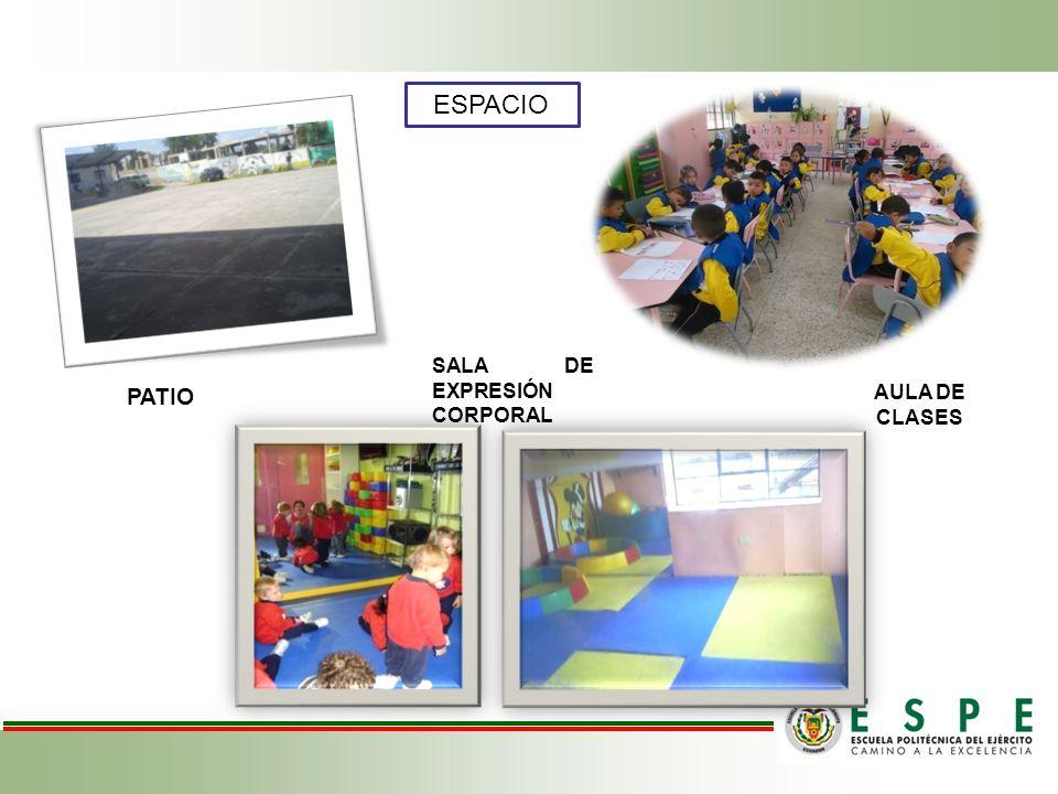 ESPACIO SALA DE EXPRESIÓN CORPORAL PATIO AULA DE CLASES