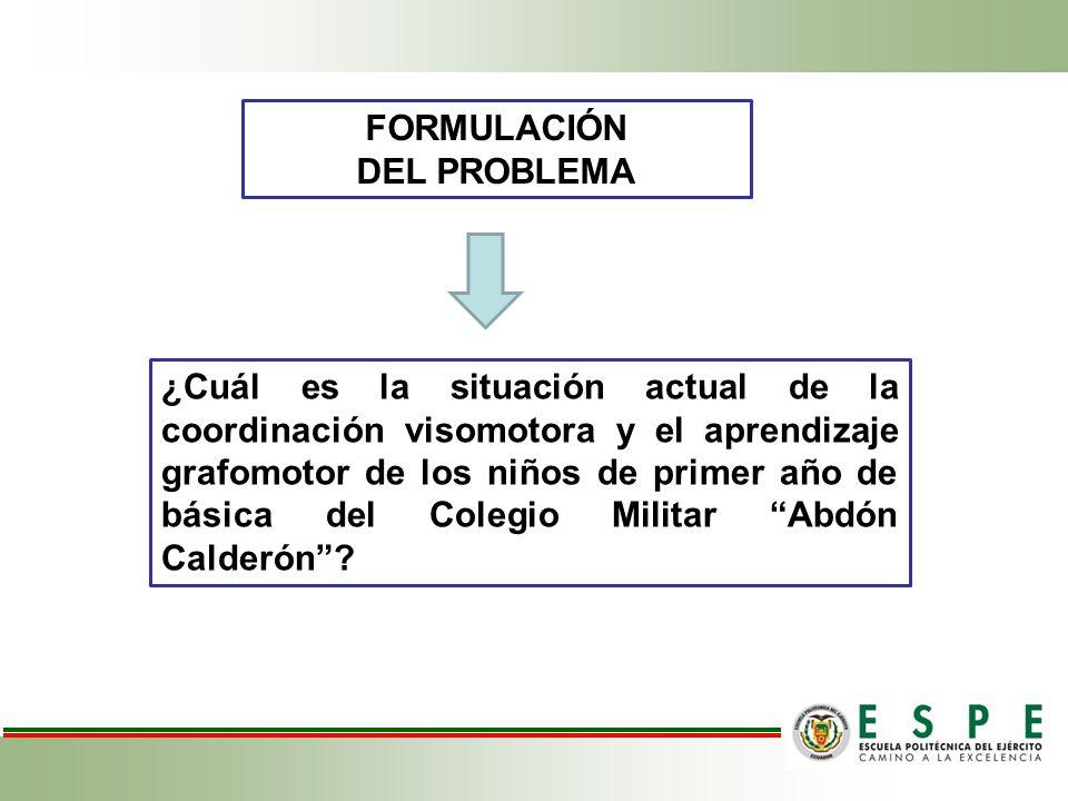 FORMULACIÓN DEL PROBLEMA.