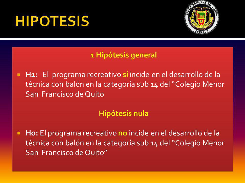 HIPOTESIS 1 Hipótesis general