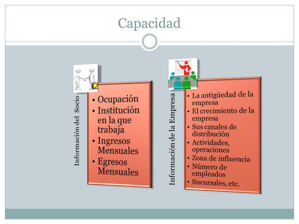 Capacidad Ocupación Institución en la que trabaja Ingresos Mensuales