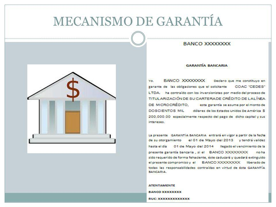 MECANISMO DE GARANTÍA