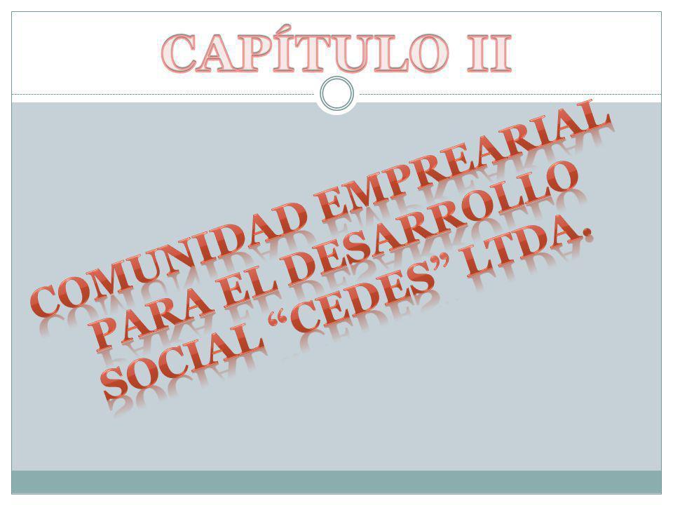 CAPÍTULO II COMUNIDAD EMPREARIAL PARA EL DESARROLLO