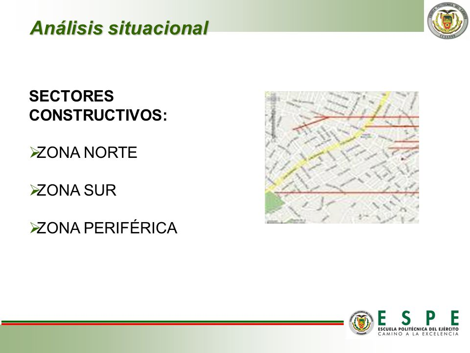 Análisis situacional SECTORES CONSTRUCTIVOS: ZONA NORTE ZONA SUR