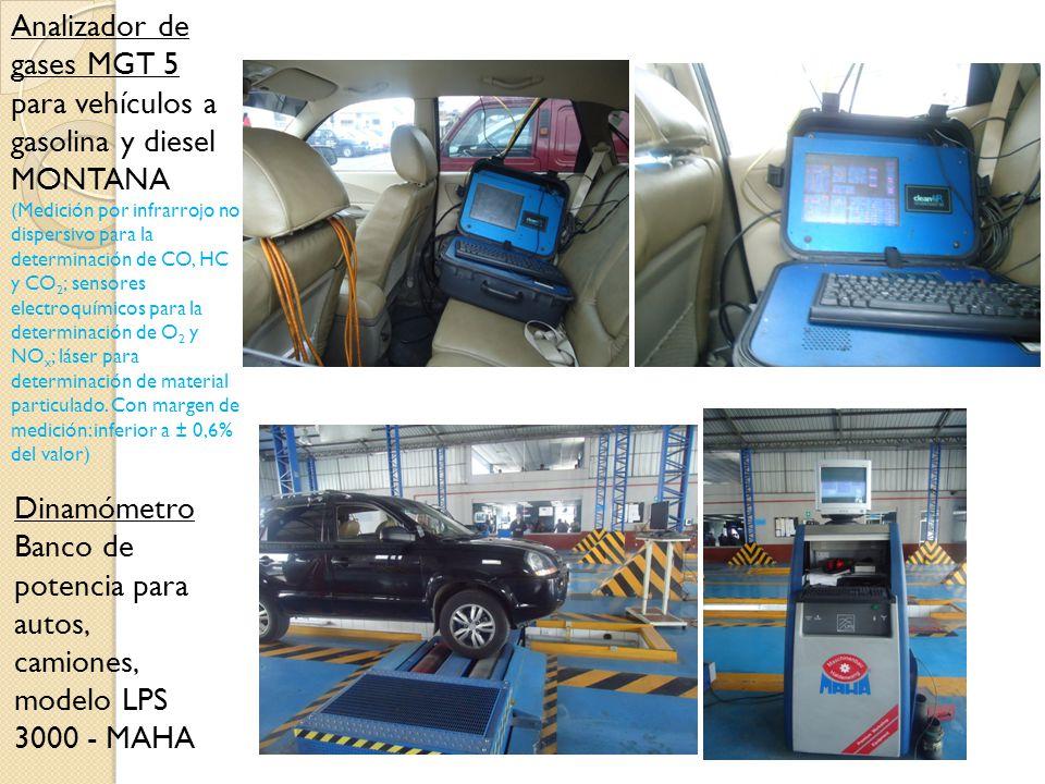 Analizador de gases MGT 5 para vehículos a gasolina y diesel