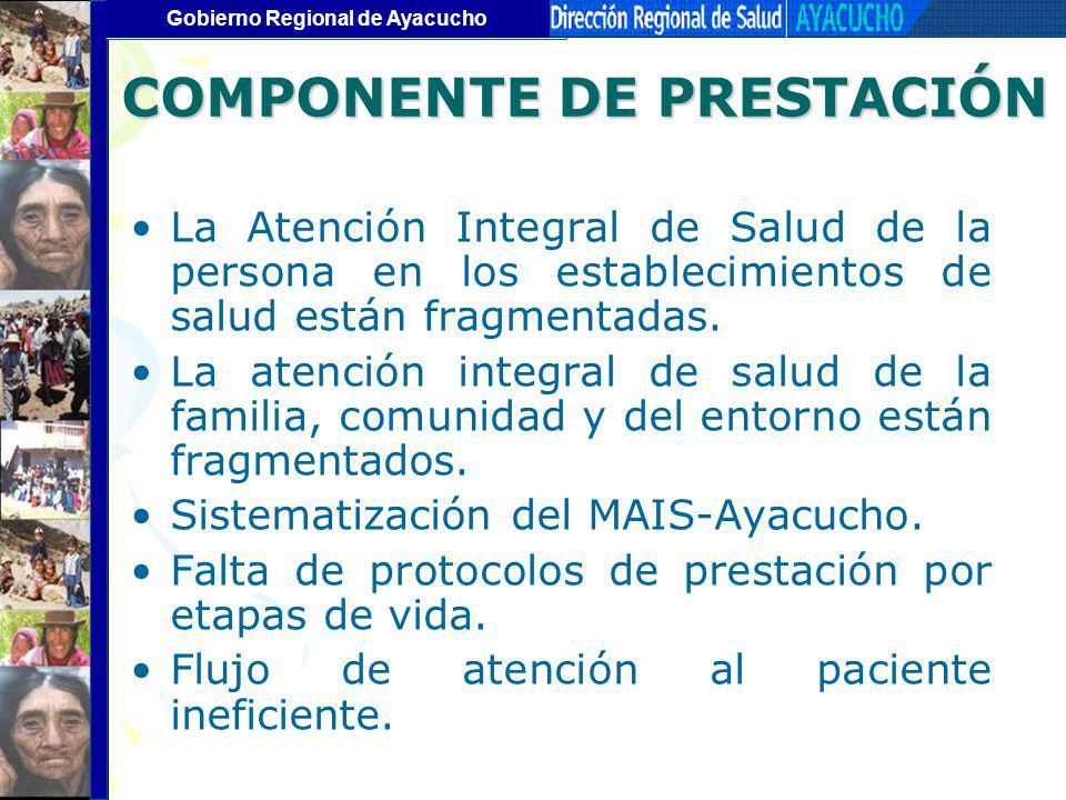 COMPONENTE DE PRESTACIÓN