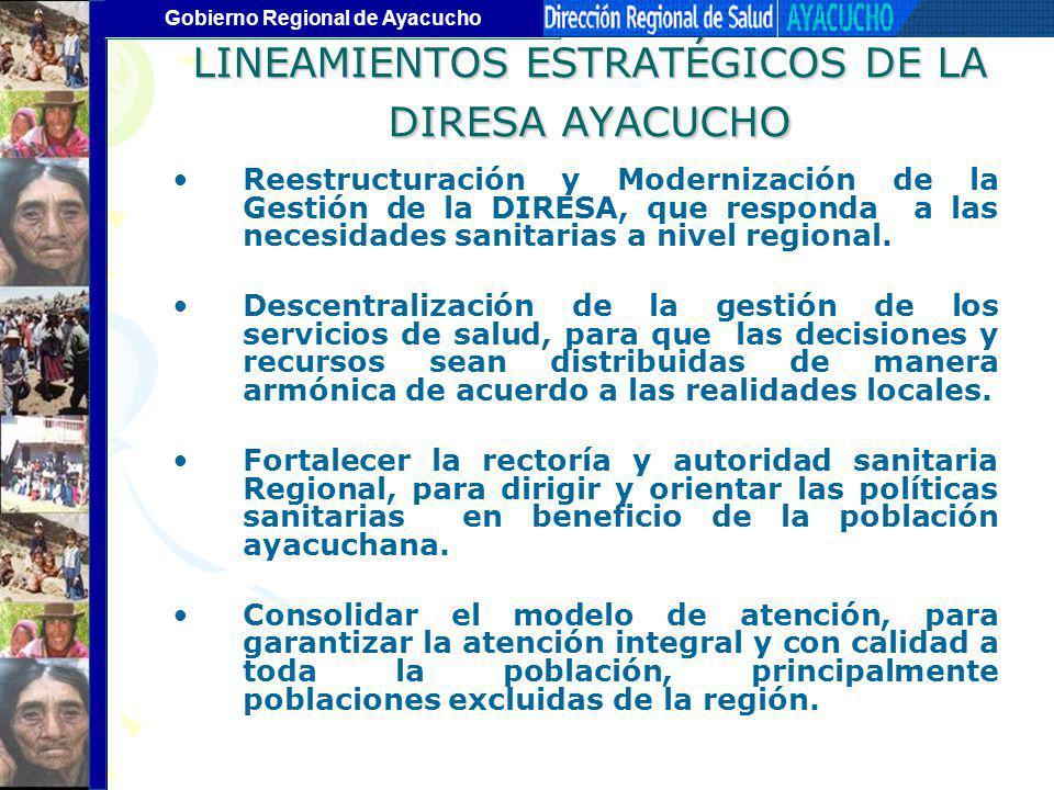 LINEAMIENTOS ESTRATÉGICOS DE LA DIRESA AYACUCHO