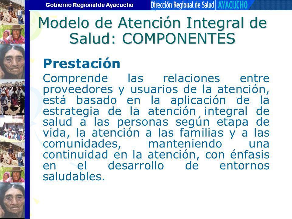 Modelo de Atención Integral de Salud: COMPONENTES