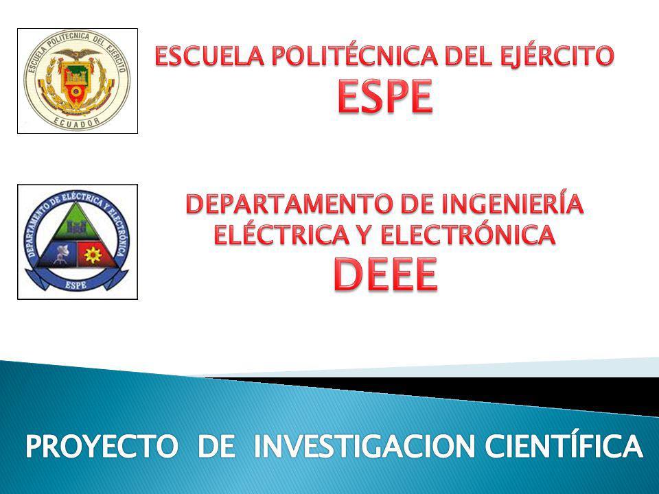 ESPE DEEE PROYECTO DE INVESTIGACION CIENTÍFICA
