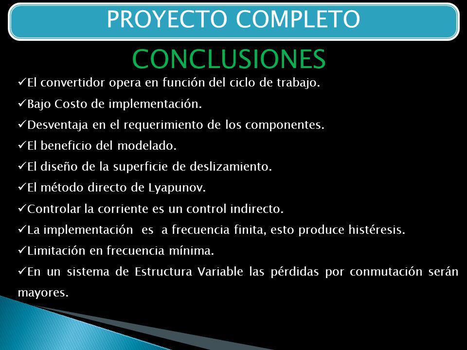 CONCLUSIONES PROYECTO COMPLETO