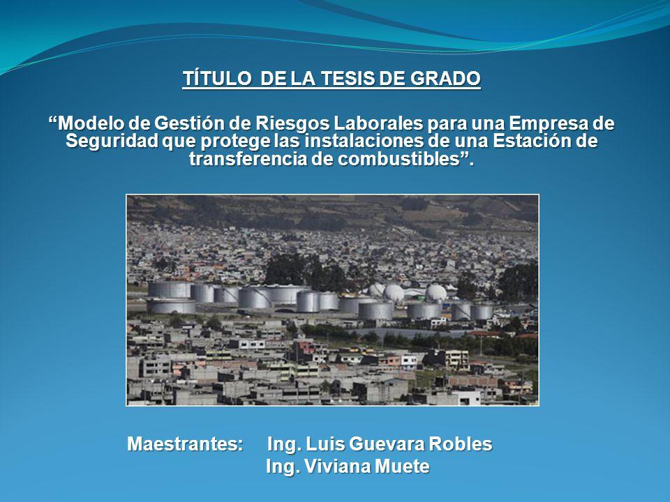 TÍTULO DE LA TESIS DE GRADO