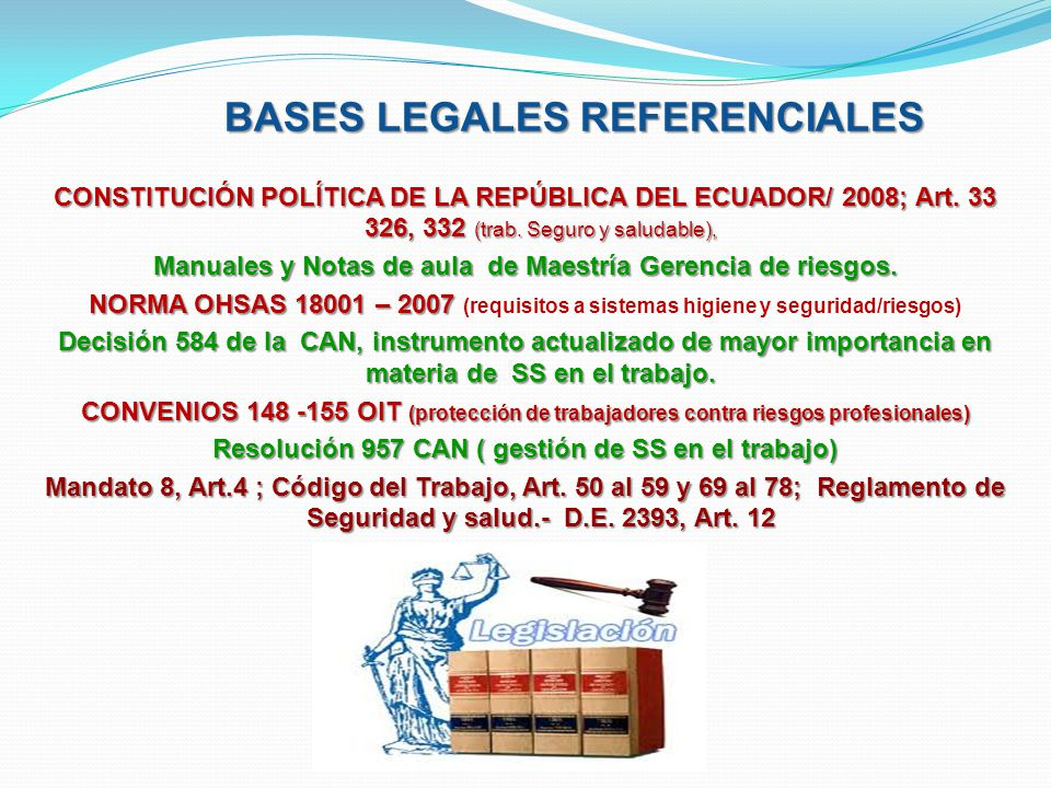BASES LEGALES REFERENCIALES