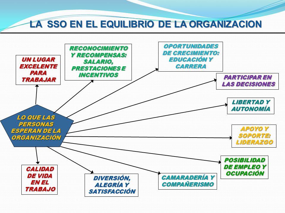 LA SSO EN EL EQUILIBRIO DE LA ORGANIZACION