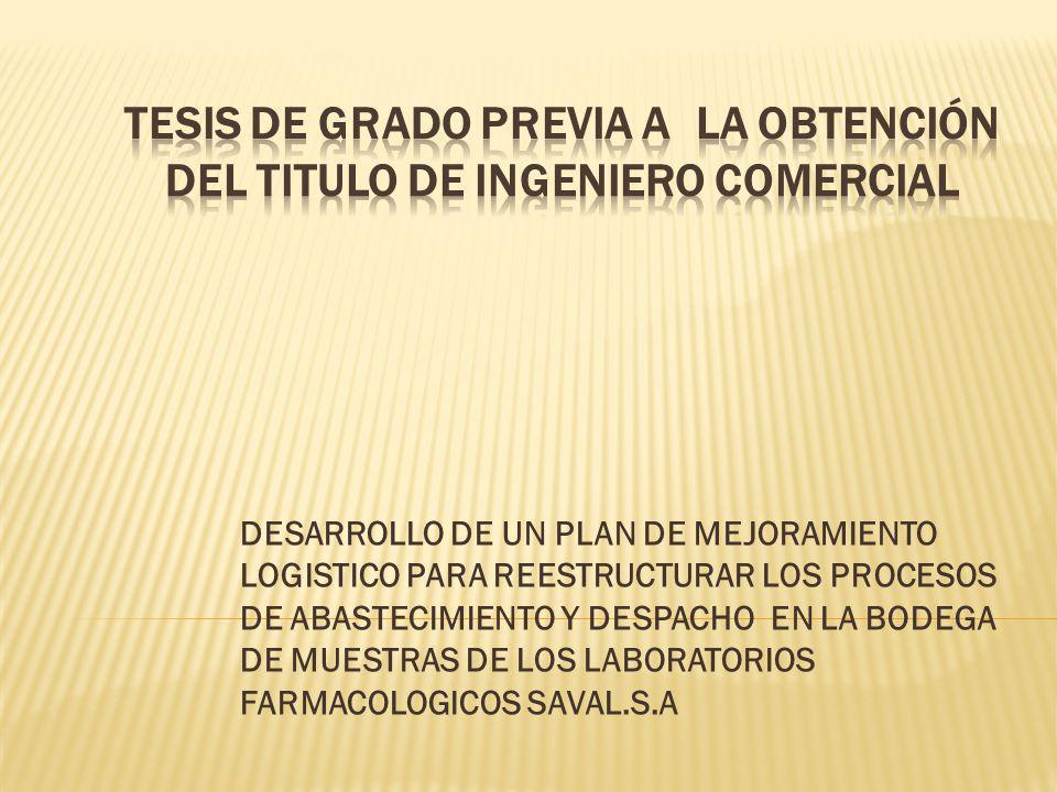 TESIS DE GRADO PREVIA A LA OBTENCIÓN DEL TITULO DE INGENIERO COMERCIAL