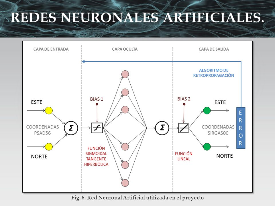 Fig. 6. Red Neuronal Artificial utilizada en el proyecto