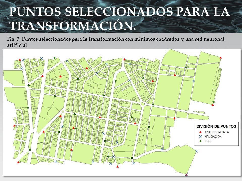 PUNTOS SELECCIONADOS PARA LA TRANSFORMACIÓN.
