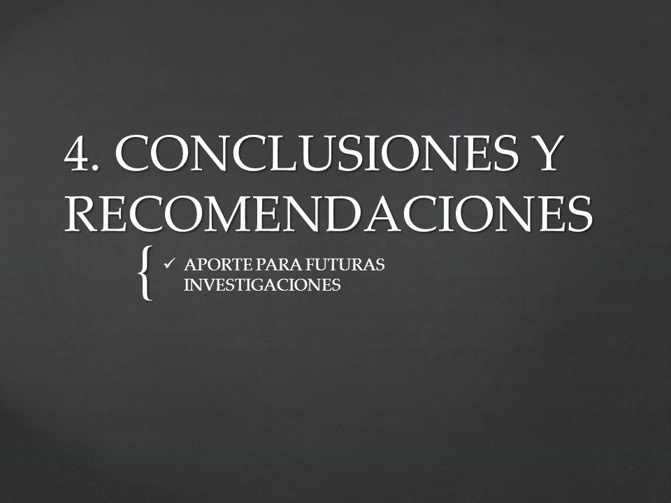 4. CONCLUSIONES Y RECOMENDACIONES