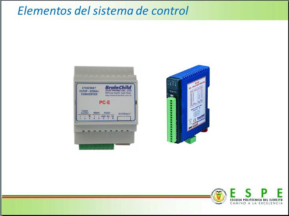 Elementos del sistema de control