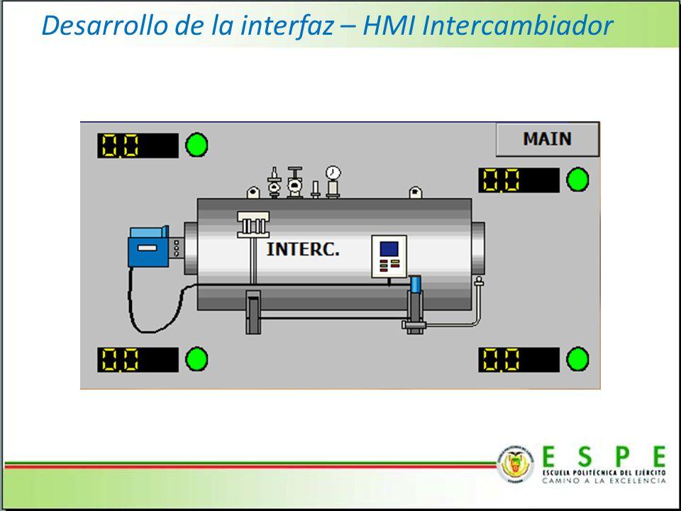 Desarrollo de la interfaz – HMI Intercambiador