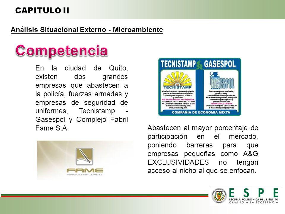 Competencia CAPITULO II Análisis Situacional Externo - Microambiente