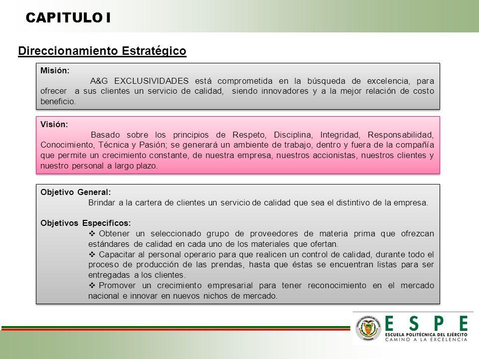 CAPITULO I Direccionamiento Estratégico Misión: