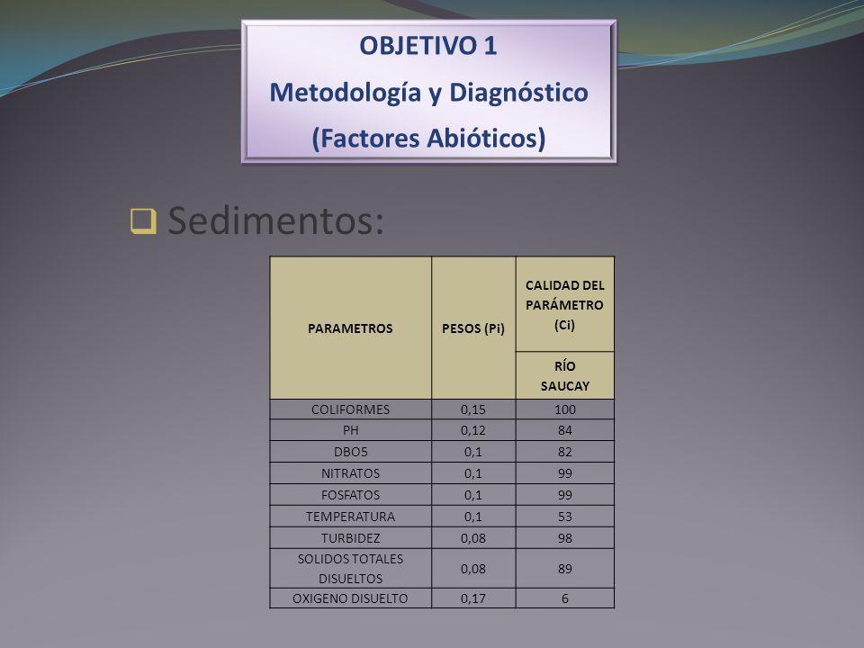 Metodología y Diagnóstico CALIDAD DEL PARÁMETRO (Ci)