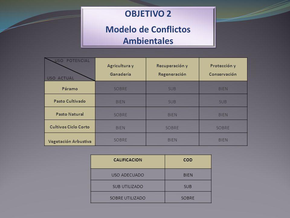 OBJETIVO 2 Modelo de Conflictos Ambientales