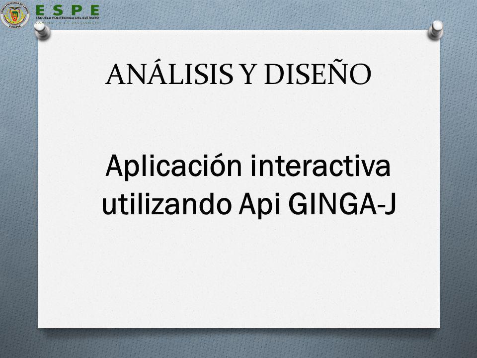 Aplicación interactiva utilizando Api GINGA-J
